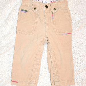 babyGap khaki corduroy pants